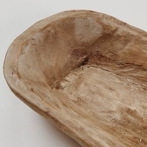Hand Carved Rounded Wood Bowl
